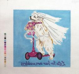 Rittenhouse Late for Her Own Wedding Handpainted Needlepoint