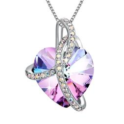 ROMANTIC PURPLE CRYSTAL NECKLACE - VALENTINE'S DAY GIFTS FOR