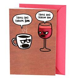Hallmark Shoebox Funny Birthday Card for Her Wine and Coffee