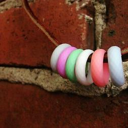 Silicone Wedding Rings for Women Rubber Wedding Bands for He