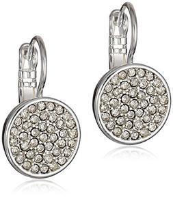 Anne Klein® Silvertone Pave Drop Earrings