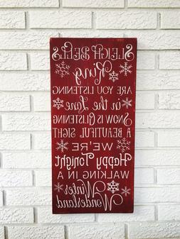 Sleigh Bells Ring, Winter Wonderland Sign, Christmas Holiday