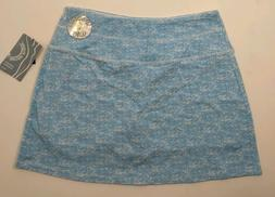 Slender Shapes Teez Her Size M Medium Teal Skort Skirt Short