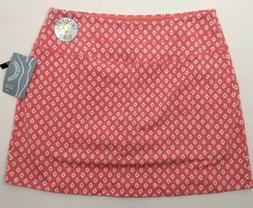 Slender Shapes Teez Her Size XL Coral White Skort Skirt Shor