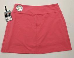 Slender Shapes Teez Her Size XL Coral Skort Skirt Shorts Sli