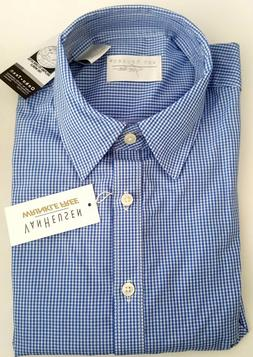 VAN HEUSEN FOR HER SMALL 4-6 LONG SLEEVE BLUE PERIWINKLE BUT