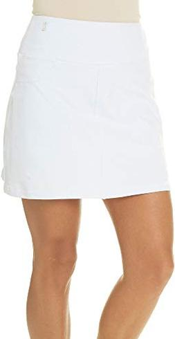 Teez-Her Womens Solid Pull On Skort Medium White
