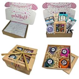 Spa Bath Bomb Birthday Theme Gift Basket Box Her-Women, Mom,
