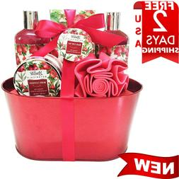 Christmas-Spa-Bath And Body Works-Gift-Basket-Set Shower-Soa
