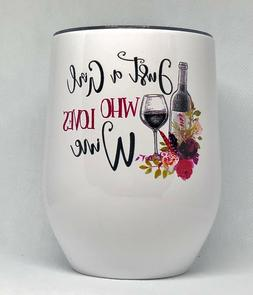 Stainless Steel 12 oz. Wine Tumbler GREAT Gift For Her! KEEP