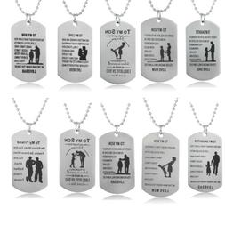 Stainless Steel Dog Tag Necklace Mothers Day Gifts For Her P