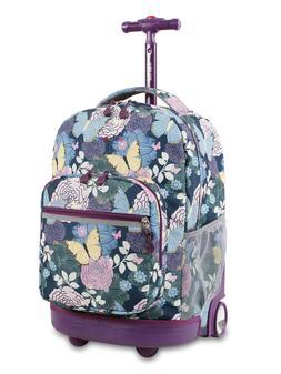 J World® Sunrise Secret Garden Rolling Backpack