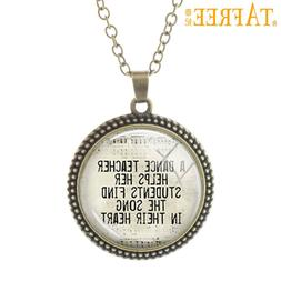 TAFREE New Pallent Necklace a dance teacher helps <font><b>h