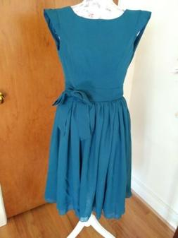 For Her And For Him Teal Chiffon Occasion  Dress 🎉 Party/