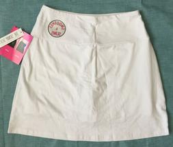 Teez Her The Skinny Skort Size Medium White Smoothing Slimmi