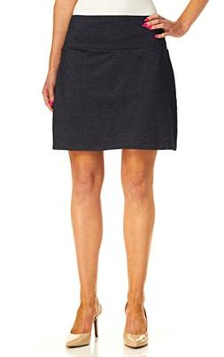 Teez-Her Women's Tummy Control Low Waist Skort, Denim, Mediu