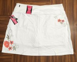 TeezHer Size XL White Skort Skirt Shorts Slims and Smooths E