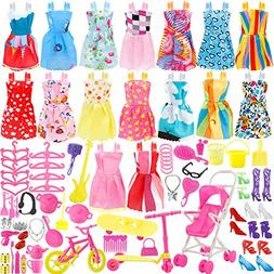 JANYUN Total 114pcs - 16 Pack Clothes Party Gown Outfits for