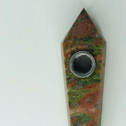 Unakite Pipe, Crystal Pipe, Gifts for Him, Gifts for Her