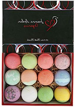 USA Bath Bombs Gift Set. 12 Premium Lush Bath Bomb,Dry Skin