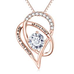 Valentine Day Gift for Her - To My Wife Heart Pendant Neckla