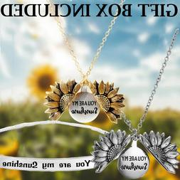 VALENTINE'S DAY GIFT FOR HER Locket Necklace Sunflower You a
