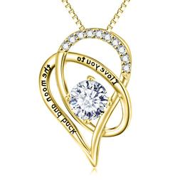 Valentine's Day Gift for Her Silver Necklace I Love You Hear