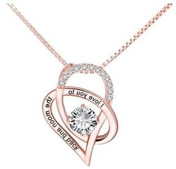 Valentine's Day Gift for Her Sterling Silver Necklace I Love