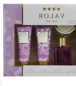 Valor For Her By Dana Mist EDT Lotion Body Wash 5 Piece Delu