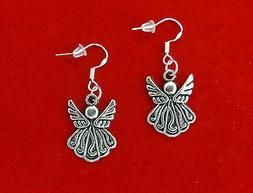 VINTAGE STYLE SILVER ANGEL EARRINGS~CHRISTMAS EASTER GIFT FO