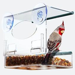 Red Earth Naturals BEST WINDOW BIRD FEEDER - Bird Feeders fo