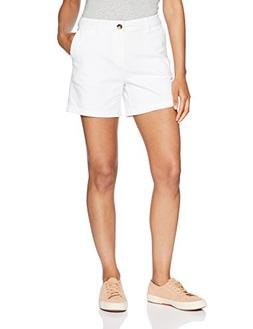 "Amazon Essentials Women's 5"" Inseam Solid Chino Short Shorts"