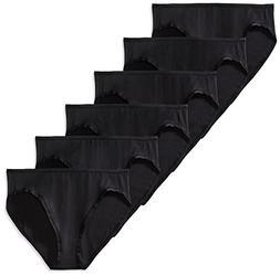 Amazon Essentials Women's Cotton Stretch Bikini Panty, Black