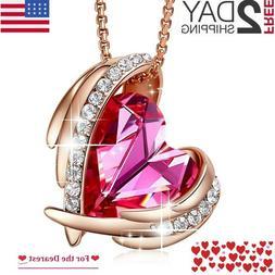 Women's Day Gift for Her, Mom 18K Rose Gold Plated Pendant N