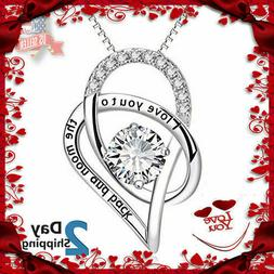 Women's Day Gift for Her Sterling Silver Necklace I Love You