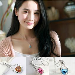 Women's Fashion Jewelry Necklace Love Drift Bottle Pendant G