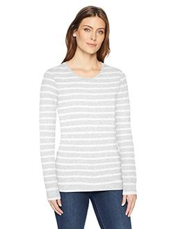 Amazon Essentials Women's Long-Sleeve Patterned T-Shirt, Lig