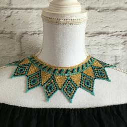 women s mexican huichol bead necklace bohemian