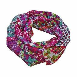 Women's Summer Scarf Fashion Stole Floral Printed Pink Scarf