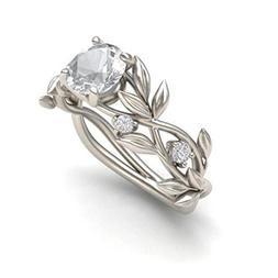 Womens Engagement Wedding Rings Cuekondy Floral Transparent